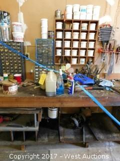 8' Work Bench with Tools and Contents