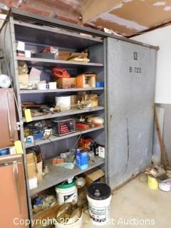 Steel Cabinet Full of Tools and Contents
