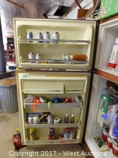 Refrigerator with Flammable/Sealants and Various Tools