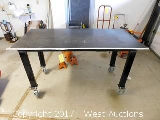 Steel Welding Table on Casters