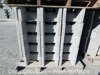 (1) Pallet of Masonry Block 12x8x16 DOEBB Precision Block, Lightweight, Grey