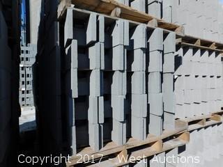 (1) Pallet of Masonry Block 8x8x16 DOEBB Precision Block, Lightweight, Grey