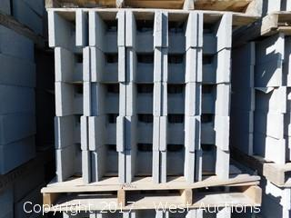(1) Pallet of Masonry Block 8x8x16 DOEBB Precision Block, Lightweight, Grey