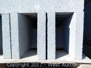 (1) Pallet of Masonry Block 6x8x16 DOEBB Precision Block, Lightweight Grey