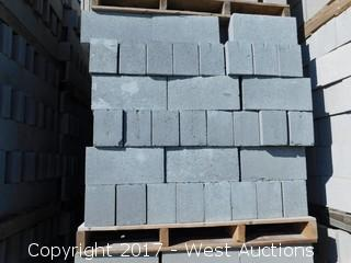 (1) Pallet of Masonry Block 6x8x16 STD Precision Block, Lightweight Grey