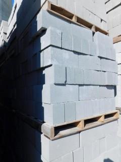 (1) Pallet of Masonry Block 6x8x16 STD Precision Block, Lightweight Grey