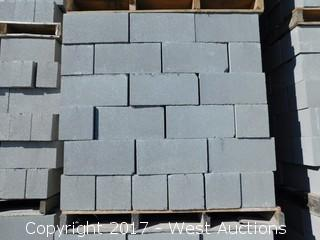 (1) Pallet of Masonry Block 8x8x16 STD Precision Block, Lightweight Grey