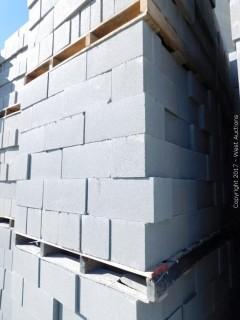 (1) Pallet of Masonry Block 8x8x16 STD Precision Block, Lightweight Grey