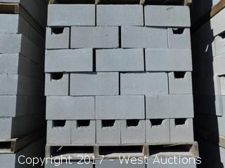 (1) Pallet of Masonry Block 8x8x16 BB Precision Block, LIghtweight Grey