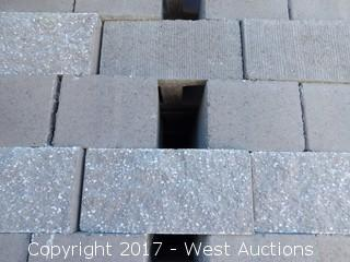 (1) Pallet of Masonry Block 10x8x16 STD Split Face 1 Side, Combed Face 1 Side, Lightweight Tan