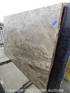 "(1) 117""x75"" Hawaiian Bordeaux 2CM Granite Slab"