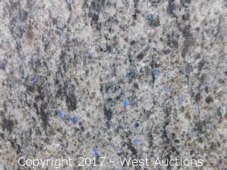 "(1) 75""x71"" Blue Eyes 2CM Granite Slab"