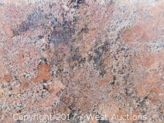 """(1) 129""""x78"""" Juperana Bordeaux 2CM Granite Slab"""