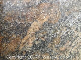 """(1) 107""""x68"""" Cosmic Gold 2CM Leather Skin Granite Slab"""