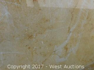 "(1) 110""x55"" Cenia Beige 2CM Limestone Slab"
