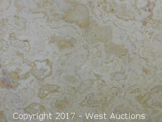 "(1) 94""x54"" Cenia Beige 2CM Limestone Slab"