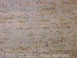 "(1) 130""x79"" Golden Dream 2CM Granite Slab"