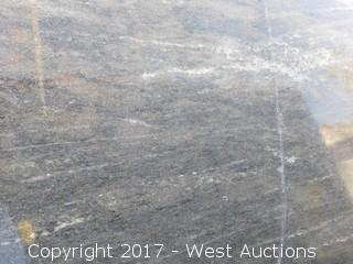 "(1) 123""x76"" Nero Marina 2CM Granite Slab"