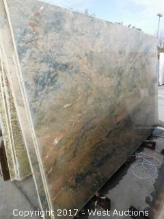 "(1) 121""x79"" Chanbordi 2CM Quartzite Slab"