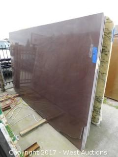"(1) 116""x73"" Concrete Brown 2CM Quartzite Slab"
