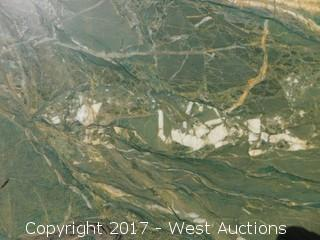 "(1) 103""x50"" Polok Green 2CM Quartzite Slab"