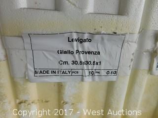 (1) Pallet of 12x12 Levigato Giallo Provenza Tile