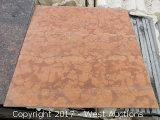 (1) Crate of 12x12 Marble Tiles (two colors)