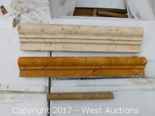 "(1) Crate of 8"" and 6"" Mixed Travertine Tiles"