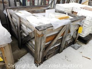 """(1) Crate of 8"""" and 6"""" Mixed Travertine Tiles"""