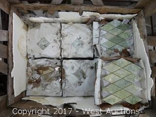 (1) Partial Crate of 12x12 Granite Verde Jade Mosaic Tiles