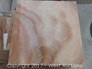 (1) Crate of 12x12 Honey Onyx Tiles