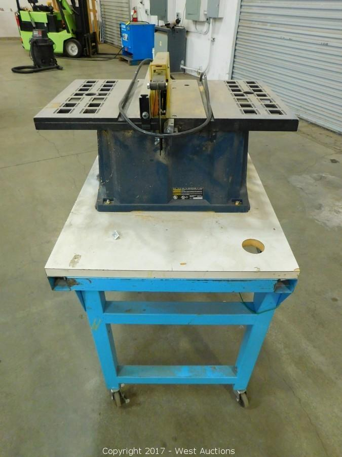 West Auctions Auction Complete Liquidation Of Crutch Manufacturer Item Ryobi 10 Table Saw