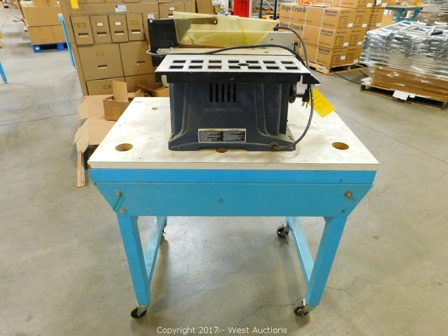 West auctions auction complete liquidation of crutch for 10 table saw ryobi