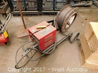 Lincoln LN-8 Squirt Welder with Feeder and Cart
