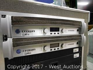 (2) Crown ITech 6000 Amps with Road Case