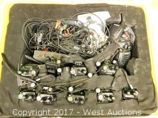 (10) BaoFeng Portable Radios with Mics/Connectors and Carrying Case