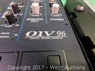 Yamaha 01V96 Mixing Table with Tripp-Lite Surge Suppresor/Feedback Destroyer and Road Case