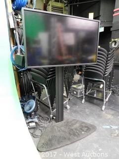 Sony Flat Widescreen Monitor Mounted on Pedestal