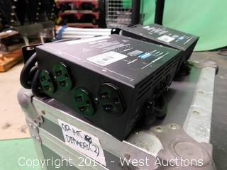 (2) Elation DP-415 Dimmers in Road Case
