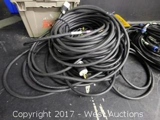 Lot of Heavy-Duty Power Cord Single Phase