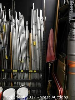 (50) Staging Pipe and Drape Poles - Rack Section