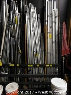 (60) Staging Pipe and Drape Poles - Rack Section
