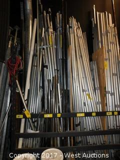Staging Drape Pipe and Poles and Junctions - Rack Section