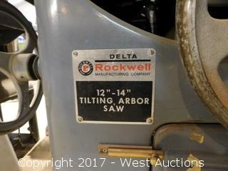 "Delta Rockwell 12""-14"" Tilting Arbor Saw"