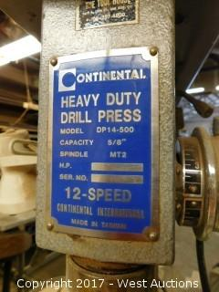 12-Speed Continental DP14-500 Drill Press