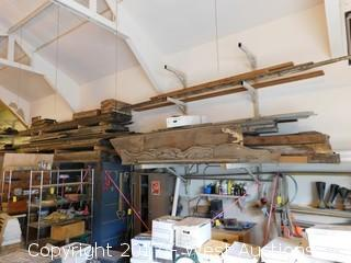 Bulk Lot of Reclaimed Wood Plus (2) Wall Mounted Racks