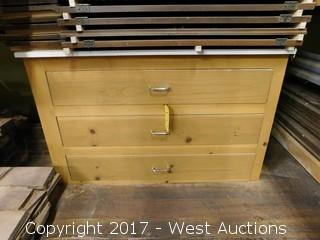 Wood Chest of Drawers with 3 Drawers