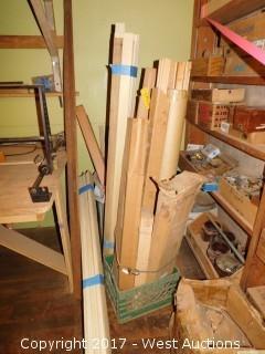 Bulk Lot of Various Wood Trim