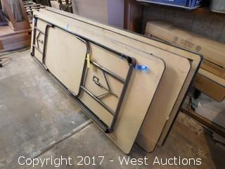 "(3) Folding Tables - 8' x 30"""
