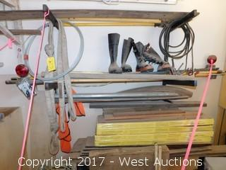 Lot of Tools and Wood